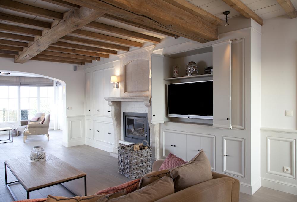 Interieur Strak Klassiek : Klassieke leefruimte laetitia deknudt interieur